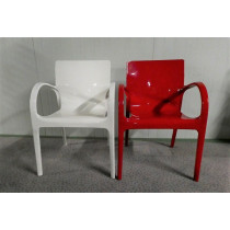 Hoogglans wit en rood
