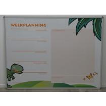 Whitebord met weekplanner